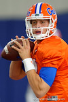 Florida Gators quarterback Feleipe Franks and the Florida Gators football team took to the indoor practice facility on Wednesday for another spring practice as the Gators prepare for their annual Orange and Blue Game.  March 30th, 2016.  Gator Country photo by David Bowie.