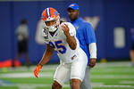 Florida Gators running back Jordan Scarlett and the Florida Gators football team took to the indoor practice facility on Wednesday for another spring practice as the Gators prepare for their annual Orange and Blue Game.  March 30th, 2016.  Gator Country photo by David Bowie.