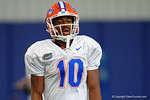 Florida Gators wide receiver Josh Hammond and the Florida Gators football team took to the indoor practice facility on Wednesday for another spring practice as the Gators prepare for their annual Orange and Blue Game.  March 30th, 2016.  Gator Country photo by David Bowie.