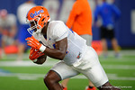 Florida Gators running back Mark Thompson and the Florida Gators football team took to the indoor practice facility on Wednesday for another spring practice as the Gators prepare for their annual Orange and Blue Game.  March 30th, 2016.  Gator Country photo by David Bowie.