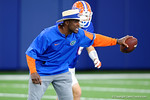 Florida Gators defensive backs coach Torrian Gray and the Florida Gators football team took to the indoor practice facility on Wednesday for another spring practice as the Gators prepare for their annual Orange and Blue Game.  March 30th, 2016.  Gator Country photo by David Bowie.