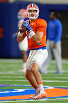 Florida Gators quarterback Austin Appleby and the Florida Gators football team took to the indoor practice facility on Wednesday for another spring practice as the Gators prepare for their annual Orange and Blue Game.  March 30th, 2016.  Gator Country photo by David Bowie.