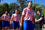 Florida Gators quarterbacks Austin Appleby and Luke Del Rio as the University of Florida Gators football team walks into the Ben Hill Griffin Stadium during Gator Walk for their Orange and Blue debut called Swamp Night this year.  April 8th, 2016.  Gator Country Photo by David Bowie.