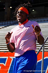 Florida Gators defensive back Marcell Harris as the University of Florida Gators football team walks into the Ben Hill Griffin Stadium during Gator Walk for their Orange and Blue debut called Swamp Night this year.  April 8th, 2016.  Gator Country Photo by David Bowie.