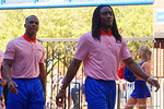 Florida Gators wide receiver Dre Massey as the University of Florida Gators football team walks into the Ben Hill Griffin Stadium during Gator Walk for their Orange and Blue debut called Swamp Night this year.  April 8th, 2016.  Gator Country Photo by David Bowie.