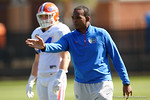 Florida Gators associate head coach Randy Shannon as the University of Florida Gators run drills and scrimmage during the third week of spring practice.  March 23rd, 2016.  Gator Country photo by David Bowie.