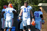 Florida Gators defensive lineman Joey Ivie as the University of Florida Gators run drills and scrimmage during the third week of spring practice.  March 23rd, 2016.  Gator Country photo by David Bowie.