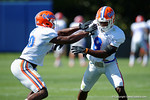 Florida Gators defensive back Marcus Maye and Florida Gators defensive back Nick Washington as the University of Florida Gators run drills and scrimmage during the third week of spring practice.  March 23rd, 2016.  Gator Country photo by David Bowie.