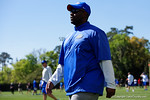 Florida Gators running backs coach Tim Skipper as the University of Florida Gators run drills and scrimmage during the third week of spring practice.  March 23rd, 2016.  Gator Country photo by David Bowie.