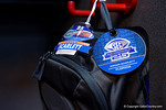 Florida Gators running back Jordan Scarlett's backpack in the locker room during media day for the 2016 SEC Championship at the Georgia Dome in Atlanta, Georgia.  December 2nd, 2016.  Gator Country photo by David Bowie.