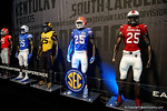 A Florida Gators uniform inside fan fair during media day for the 2016 SEC Championship at the Georgia Dome in Atlanta, Georgia.  December 2nd, 2016.  Gator Country photo by David Bowie.