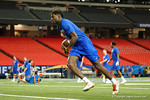 Florida Gators wide receiver Ahmad Fulwood during practice at media day for the 2016 SEC Championship at the Georgia Dome in Atlanta, Georgia.  December 2nd, 2016.  Gator Country photo by David Bowie.