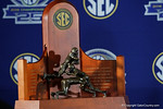The SEC Championship trophy during media day for the 2016 SEC Championship at the Georgia Dome in Atlanta, Georgia.  December 2nd, 2016.  Gator Country photo by David Bowie.