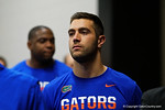 Florida Gators quarterback Austin Appleby walks out of the locker room and towards the football field for practice during media day for the 2016 SEC Championship at the Georgia Dome in Atlanta, Georgia.  December 2nd, 2016.  Gator Country photo by David Bowie.