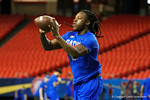 Florida Gators defensive back Marcell Harris during a defensive backs drill at practice during media day for the 2016 SEC Championship at the Georgia Dome in Atlanta, Georgia.  December 2nd, 2016.  Gator Country photo by David Bowie.