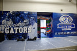 The Florida Gators locker room during media day for the 2016 SEC Championship at the Georgia Dome in Atlanta, Georgia.  December 2nd, 2016.  Gator Country photo by David Bowie.