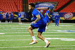 Florida Gators defensive back Teez Tabor during a defensive backs drill at practice during media day for the 2016 SEC Championship at the Georgia Dome in Atlanta, Georgia.  December 2nd, 2016.  Gator Country photo by David Bowie.