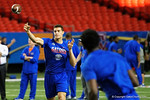 Florida Gators quarterback Feleipe Franks throwing during a short practice at media day for the 2016 SEC Championship at the Georgia Dome in Atlanta, Georgia.  December 2nd, 2016.  Gator Country photo by David Bowie.