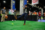 Graham kicking during media day for the 2016 SEC Championship at the Georgia Dome in Atlanta, Georgia.  December 2nd, 2016.  Gator Country photo by David Bowie.