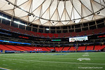 The Georgia Dome during media day for the 2016 SEC Championship at the Georgia Dome in Atlanta, Georgia.  December 2nd, 2016.  Gator Country photo by David Bowie.