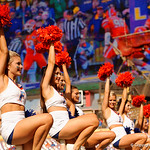 The Florida Gators cheerleaders cheer on during pre-game as the Florida Gators defeat the University of Iowa Hawkeyes 30-3 in the 2017 Outback Bowl in Tampa, Florida.  January 2nd, 2017.  Country photo by David Bowie.