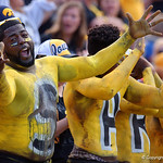 An Iowa Hawkeye fan cheers on during the first half as the Florida Gators defeat the University of Iowa Hawkeyes 30-3 in the 2017 Outback Bowl in Tampa, Florida.  January 2nd, 2017.  Country photo by David Bowie.