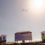 A flyover over Raymond James Stadium before kickoff as the Florida Gators defeat the University of Iowa Hawkeyes 30-3 in the 2017 Outback Bowl in Tampa, Florida.  January 2nd, 2017.  Country photo by David Bowie.