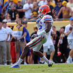 Florida Gators defensive back Marcell Harris makes a touchdown saving tackle on Iowa Hawkeyes running back LeShun Daniels Jr.during the first half as the Florida Gators defeat the University of Iowa Hawkeyes 30-3 in the 2017 Outback Bowl in Tampa, Florida.  January 2nd, 2017.  Country photo by David Bowie.