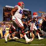 Florida Gators offensive lineman Jawaan Taylor takes the field as the Florida Gators defeat the University of Iowa Hawkeyes 30-3 in the 2017 Outback Bowl in Tampa, Florida.  January 2nd, 2017.  Country photo by David Bowie.