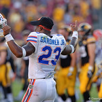 Florida Gators defensive back Chauncey Gardner as the Florida Gators celebrate defeating the University of Iowa Hawkeyes 30-3 in the 2017 Outback Bowl in Tampa, Florida.  January 2nd, 2017.  Country photo by David Bowie.