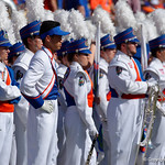 The University of Florida Gators band takes the field before kickoff as the Florida Gators defeat the University of Iowa Hawkeyes 30-3 in the 2017 Outback Bowl in Tampa, Florida.  January 2nd, 2017.  Country photo by David Bowie.