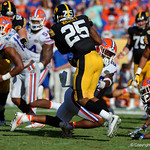 Florida Gators defensive back Chauncey Gardner making a tackle during the second half as the Florida Gators defeat the University of Iowa Hawkeyes 30-3 in the 2017 Outback Bowl in Tampa, Florida.  January 2nd, 2017.  Country photo by David Bowie.