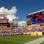 Raymond James Stadium during pre-game as the Florida Gators defeat the University of Iowa Hawkeyes 30-3 in the 2017 Outback Bowl in Tampa, Florida.  January 2nd, 2017.  Country photo by David Bowie.
