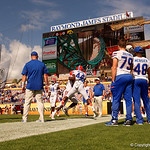 Florida Gators linebacker Rayshad Jackson during blocking drills in pre-game as the Florida Gators defeat the University of Iowa Hawkeyes 30-3 in the 2017 Outback Bowl in Tampa, Florida.  January 2nd, 2017.  Country photo by David Bowie.
