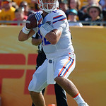 Florida Gators quarterback Austin Appleby throwing during the first half as the Florida Gators defeat the University of Iowa Hawkeyes 30-3 in the 2017 Outback Bowl in Tampa, Florida.  January 2nd, 2017.  Country photo by David Bowie.