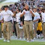 Iowa Hawkeyes head coach Kirk Ferentz not happy with a referees call during the second half as the Florida Gators defeat the University of Iowa Hawkeyes 30-3 in the 2017 Outback Bowl in Tampa, Florida.  January 2nd, 2017.  Country photo by David Bowie.