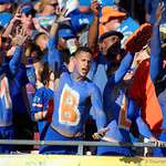 Florida Gator fans cheer on during the second half as the Florida Gators defeat the University of Iowa Hawkeyes 30-3 in the 2017 Outback Bowl in Tampa, Florida.  January 2nd, 2017.  Country photo by David Bowie.