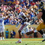 Florida Gators defensive back Chauncey Gardner gets his second interception of the game during the second half as the Florida Gators defeat the University of Iowa Hawkeyes 30-3 in the 2017 Outback Bowl in Tampa, Florida.  January 2nd, 2017.  Country photo by David Bowie.