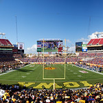 Raymond James Stadium during the second half as the Florida Gators defeat the University of Iowa Hawkeyes 30-3 in the 2017 Outback Bowl in Tampa, Florida.  January 2nd, 2017.  Country photo by David Bowie.