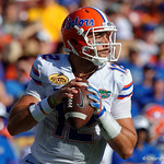 Florida Gators quarterback Austin Appleby throwing during the second half as the Florida Gators defeat the University of Iowa Hawkeyes 30-3 in the 2017 Outback Bowl in Tampa, Florida.  January 2nd, 2017.  Country photo by David Bowie.