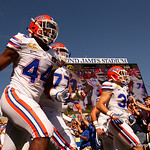 Florida Gators linebacker Rayshad Jackson takes the field as the Florida Gators defeat the University of Iowa Hawkeyes 30-3 in the 2017 Outback Bowl in Tampa, Florida.  January 2nd, 2017.  Country photo by David Bowie.