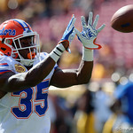 Florida Gators defensive back Joseph Putu during pre-game as the Florida Gators defeat the University of Iowa Hawkeyes 30-3 in the 2017 Outback Bowl in Tampa, Florida.  January 2nd, 2017.  Country photo by David Bowie.