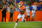 Florida Gators defensive back Chauncey Gardner sprints upfiield on a kickoff, as the University of Florida Gators fotball team scrimmages for the final time this spring in the annual Orange and Blue Debut at Ben Hill Griffin Stadium.  April 8th, 2016.  Gator Country Photo by David Bowie.
