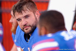Florida Gators defensive lineman Joey Ivie as the University of Florida Gators fotball team scrimmages for the final time this spring in the annual Orange and Blue Debut at Ben Hill Griffin Stadium.  April 8th, 2016.  Gator Country Photo by David Bowie.