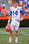 Florida Gators quarterback Luke Del Rio as the University of Florida Gators fotball team scrimmages for the final time this spring in the annual Orange and Blue Debut at Ben Hill Griffin Stadium.  April 8th, 2016.  Gator Country Photo by David Bowie.
