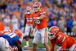 Florida Gators linebacker Cristian Garcia as the University of Florida Gators fotball team scrimmages for the final time this spring in the annual Orange and Blue Debut at Ben Hill Griffin Stadium.  April 8th, 2016.  Gator Country Photo by David Bowie.