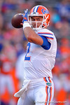 Florida Gators quarterback Austin Appleby throwing during warm up drills as the University of Florida Gators fotball team scrimmages for the final time this spring in the annual Orange and Blue Debut at Ben Hill Griffin Stadium.  April 8th, 2016.  Gator Country Photo by David Bowie.