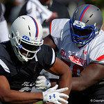 Florida Gators recruit offensive tackle Alex Leatherwood practices and run drills during the third day of practice for the 2016 Under Armour All-America High School Football Game at the ESPN Wide World of Sports in Orlando, Florida  December 38th, 2016. Gator Country photo by David Bowie.