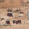Idle fracking equipment.