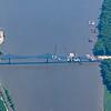 New bridge under construction over the Mississippi River